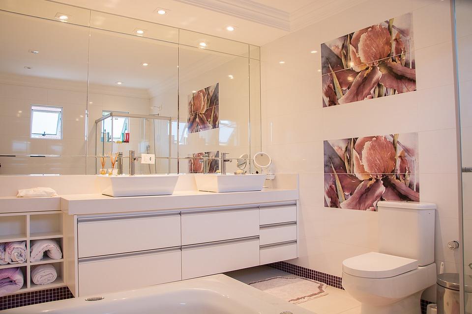 styl skandynawski w łazience