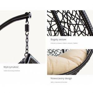 model nowoczesnego fotela wiszącego